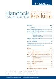 Handbok för barnskyddet Lastensuojelun käsikirja.pdf - Folkhälsan