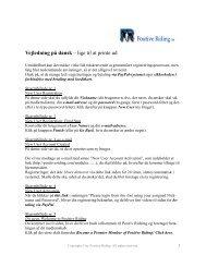 Vejledning på dansk – lige til at printe ud - Positive Riding