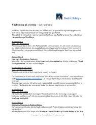 Vägledning på svenska – skriv gärna ut - Positive Riding