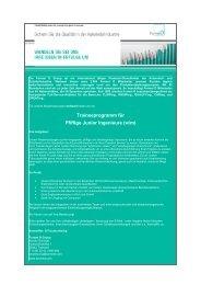 Traineeprogramm für Pfiffige Junior Ingenieure (w/m) - formel d