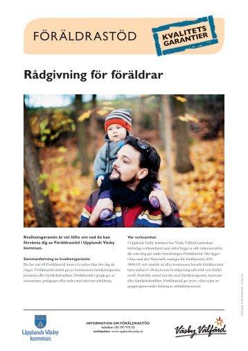 Rådgivning för föräldrar FÖRÄLDRASTÖD - Upplands Väsby kommun
