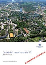 Förstudie inför renovering av äldre DP - Upplands Väsby kommun