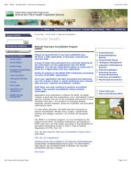 USDA - APHIS - Animal Health - Veterinary ... - Vets for Pets