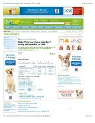 Data_ Veterinary team members' salary and benefits ... - Vets for Pets
