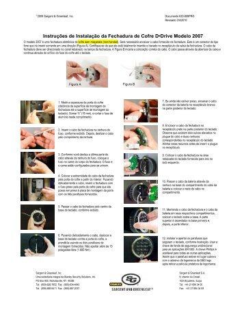 Instruções de Instalação da Fechadura de Cofre D•Drive Modelo 2007