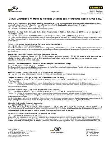 Manual Operacional no Modo de Múltiplos Usuários para ...