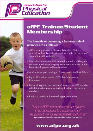 afPE Trainee/Student Membership - College of Social Sciences and ...