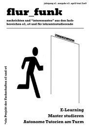 flur_funk #03 (Ausgabe April 2009) - Fachschaft 04