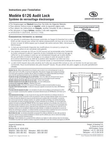 sargent and greenleaf combination lock instructions
