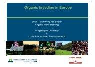 Organic breeding in Europe - Planet Diversity