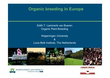 Organic breeding in Europe - Planet Diversity