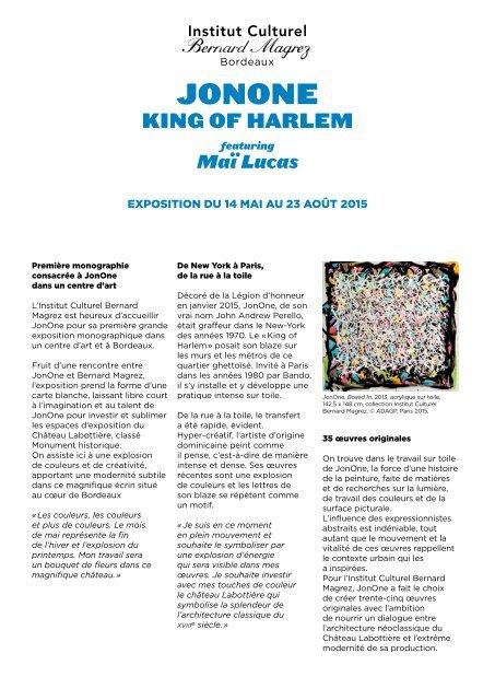 Dossier de presentation King of Harlem