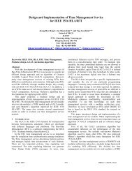 Design and Implementation of Time Management Service for IEEE ...