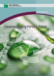 Naamswijziging Fortis L Funds - BNP Paribas Investment Partners