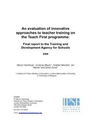 An evaluation of innovative approaches to teacher training on the ...