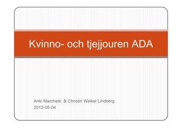 och tjejjouren ADA - våldinärarelationer.se-www.valdinararelationer ...