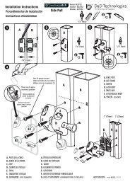 Installation Instructions 4 1 2 3 Side Pull - D&D Technologies