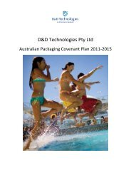 Our Australian Packaging Covenant Commitment - D&D Technologies