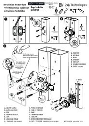 Key-Lockable Side Pull Installation Instructions 4 1 2 3 - D&D ...