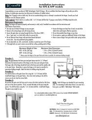 Installation Instructions for KFS & KFP models - D&D Technologies