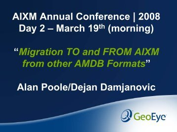 02 GEOEYE Migration to and from AIXM with Other Airports