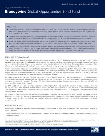 Brandywine Global Opportunities Bond Fund - Legg Mason