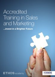 Accredited Training in Sales and Marketing - Ethos Training