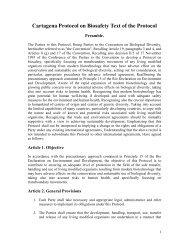 Annex I - Cartagena Protocol on Biosafety Text of the Protocol