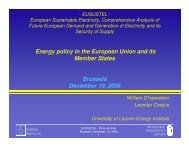 Energy policy in the EU and its MS - Eusustel.be