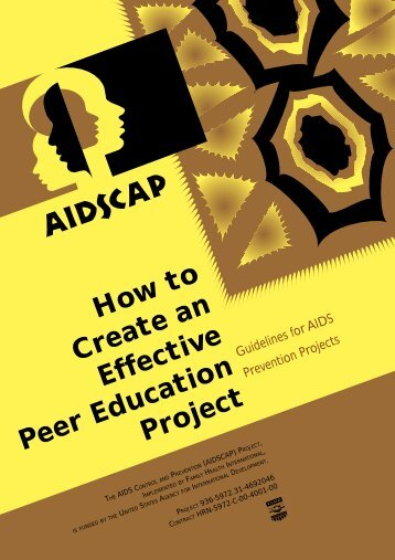 How to create an effective peer education project - Family Health ...