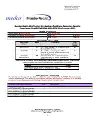Member Health, LLC Version D.0, Medicare Part D and Secondary ...