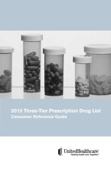 2010 Three-Tier Prescription Drug List