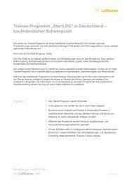 Trainee-Programm aStartLSGh in Deutschland ... - Be-Lufthansa.com