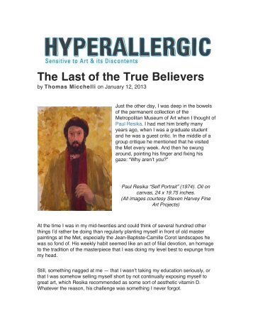The Last of the True Believers - Steven Harvey Fine Art Projects