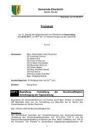 Gemeinderatssitzung vom 26.05.2011 (399 KB) - .PDF - Ehenbichl ...