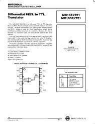 Differential PECL to TTL Translator MC10ELT21 MC100ELT21