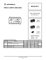 MC54/74F11 TRIPLE 3-INPUT AND GATE - Server Die