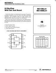 D Flip Flop With Set and Reset MC10EL31 MC100EL31