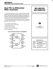 Dual TTL to Differential PECL Translator MC10ELT22 MC100ELT22