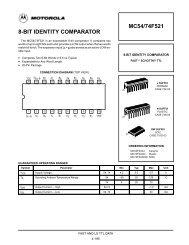 8-BIT IDENTITY COMPARATOR MC54/74F521 - Server Die