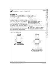 DS90C031 LVDS Quad CMOS Differential Line Driver