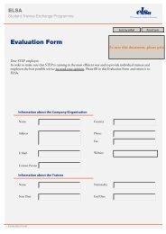 Evaluation Form - Elsa