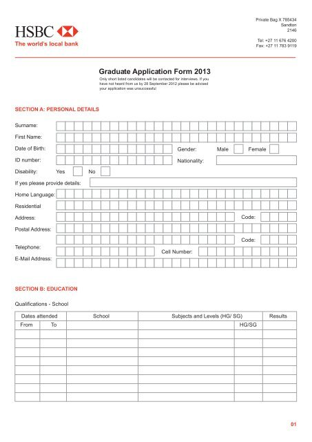 Graduate Trainee Programme 2013 Application Form