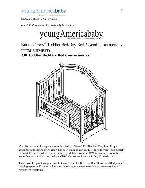 Item Number 230 Toddler Bed Day, Stanley Kids Furniture