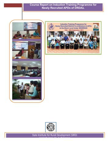 Course Report on Induction Training Programme for Newly ...