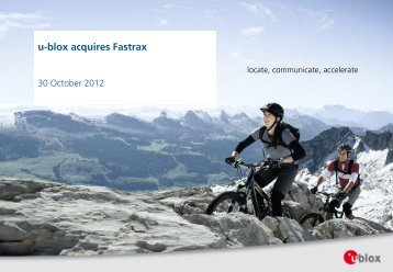 u-blox acquires Fastrax