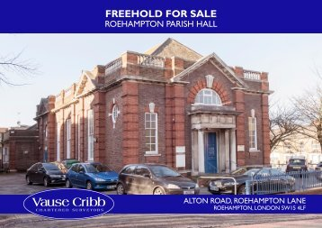 Roehampton Parish Hall Brochure 2015