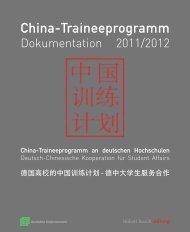 (PDF) Dokumentation 2011/12 - China-Traineeprogramm