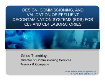 design, commissioning, and validation of effluent decontamination ...