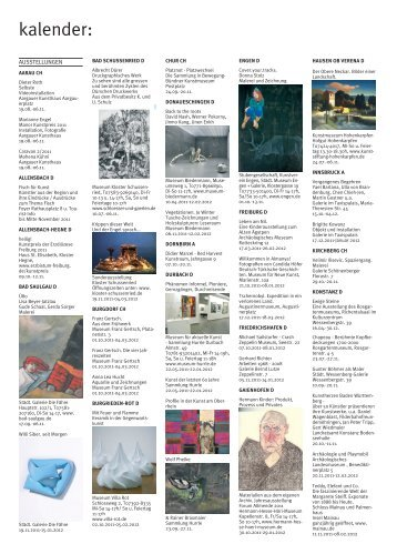kalender: - Kulturmagazin-Bodensee.de